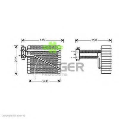 KAGER 945732 Испаритель кондиционера