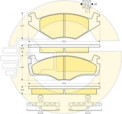 GIRLING 6410275 Комплект тормозов, дисковый тормозной механизм