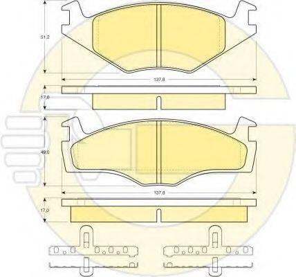 GIRLING 6410515 Комплект тормозов, дисковый тормозной механизм