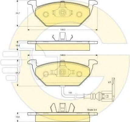 GIRLING 6410785 Комплект тормозов, дисковый тормозной механизм