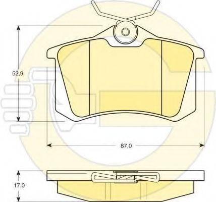 GIRLING 6410831 Комплект тормозов, дисковый тормозной механизм