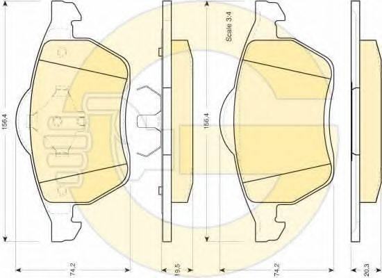 GIRLING 6411182 Комплект тормозов, дисковый тормозной механизм