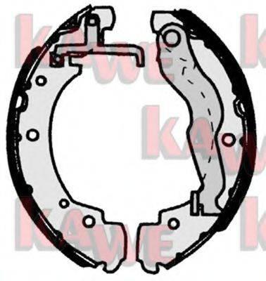 KAWE 06910 Тормозные колодки барабанные