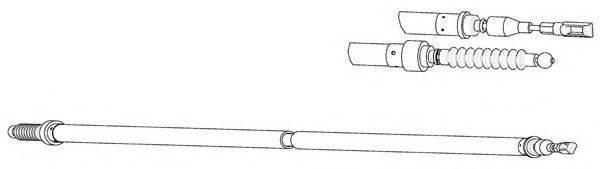 KAWE VW02166 Трос, стояночная тормозная система