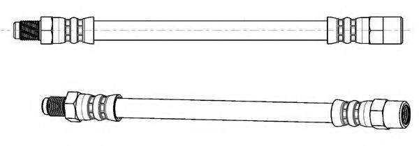 KAWE 510007 Тормозной шланг
