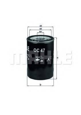 MAHLE ORIGINAL OC47 Фильтр масляный ДВС