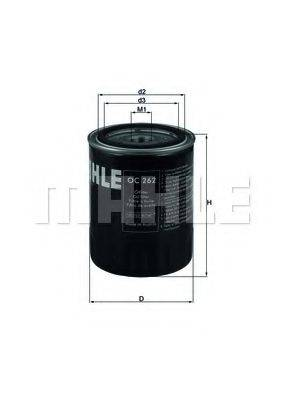 MAHLE ORIGINAL OC262 Фильтр масляный ДВС
