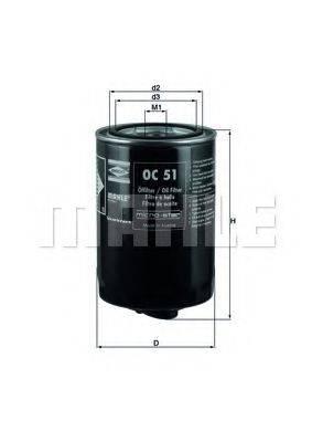 MAHLE ORIGINAL OC51 Фильтр масляный ДВС