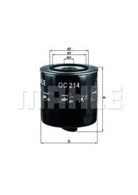 MAHLE ORIGINAL OC214 Фильтр масляный ДВС
