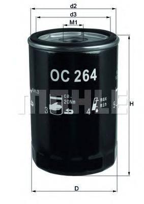 MAHLE ORIGINAL OC264 Фильтр масляный ДВС