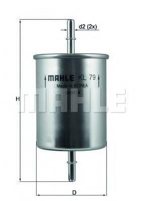 MAHLE ORIGINAL KL79 Топливный фильтр