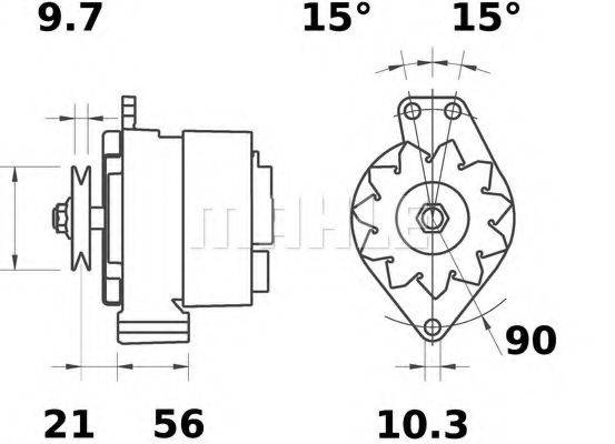 MAHLE ORIGINAL MG44 Генератор