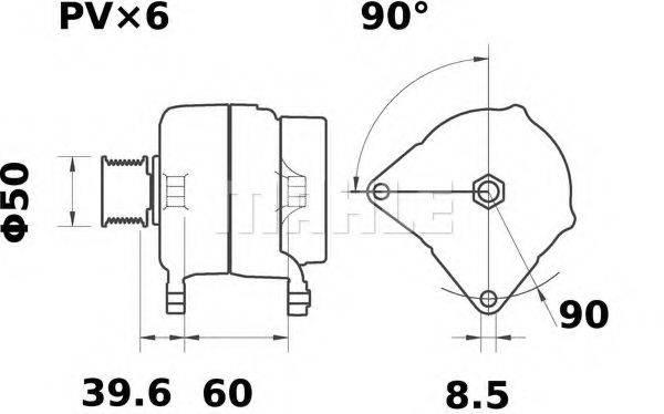 MAHLE ORIGINAL MG26 Генератор
