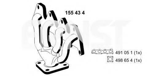 ERNST 155434 Коллектор, система выпуска