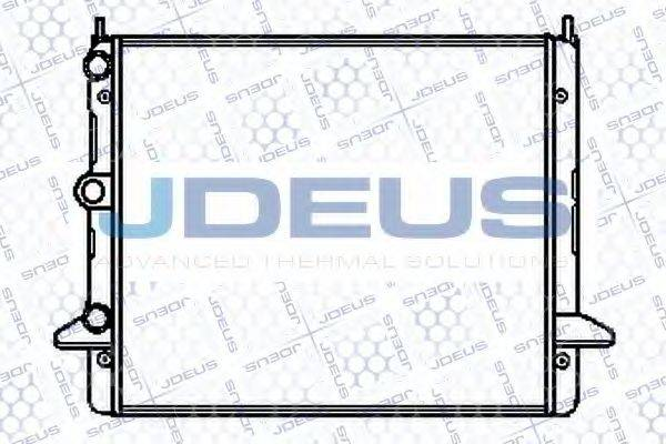 JDEUS 012V08 Радиатор охлаждения двигателя