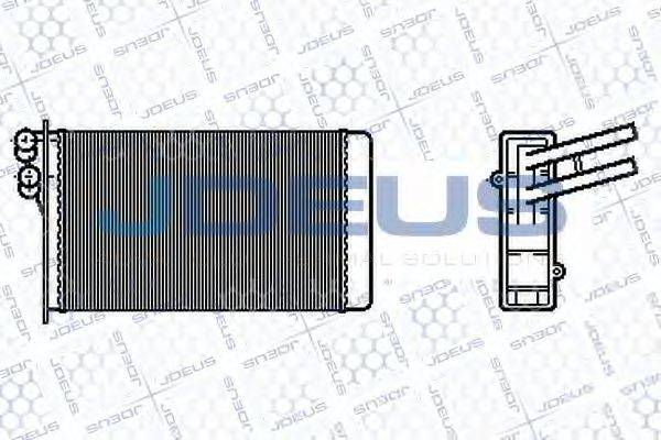 JDEUS 201B02 Радиатор печки