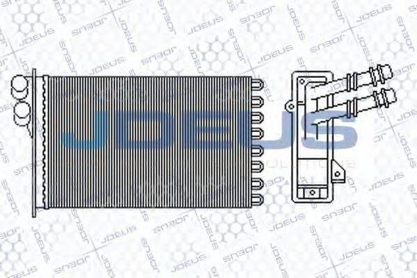 JDEUS 230M05 Радиатор печки