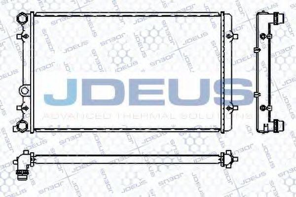 JDEUS RA0010190 Радиатор охлаждения двигателя