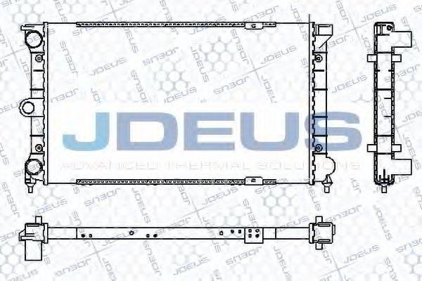 JDEUS RA0300271 Радиатор охлаждения двигателя
