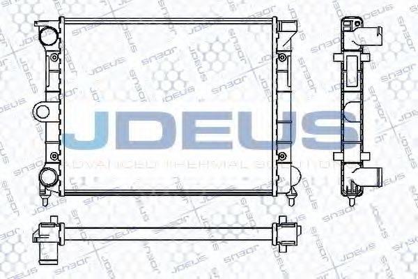 JDEUS RA0300390 Радиатор охлаждения двигателя