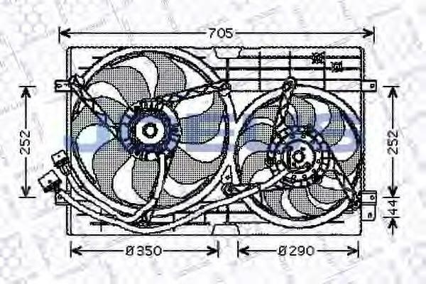 JDEUS EV010190 Вентилятор конденсатора кондиционера