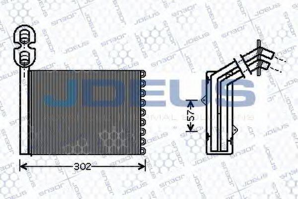 JDEUS 212M09 Радиатор печки