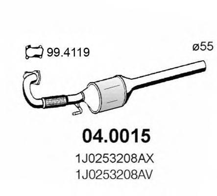 ASSO 040015 Конвертор- катализатор