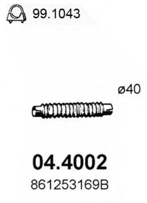 ASSO 044002 Труба выхлопного газа