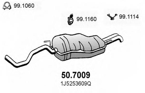 ASSO 507009 Глушитель выхлопных газов конечный