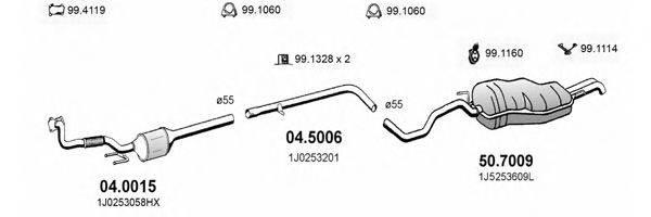 ASSO ART2268 Система выпуска ОГ