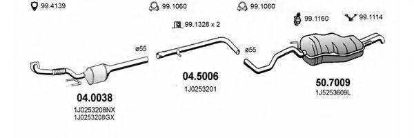 ASSO ART2567 Система выпуска ОГ