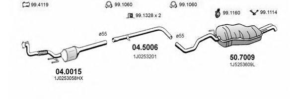 ASSO ART2580 Система выпуска ОГ