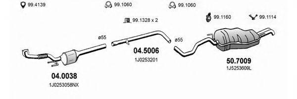 ASSO ART2581 Система выпуска ОГ