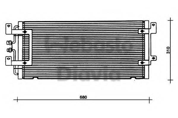 WEBASTO 82D0225075A Конденсатор кондиционера