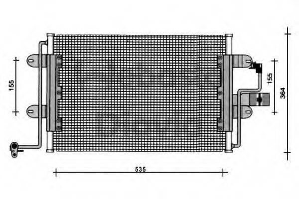WEBASTO 82D0225113A Конденсатор кондиционера