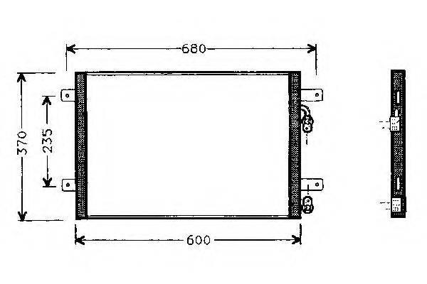 WEBASTO 82D0225152A Конденсатор кондиционера