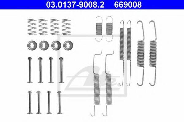 ATE 03013790082 Комплектующие, тормозная колодка