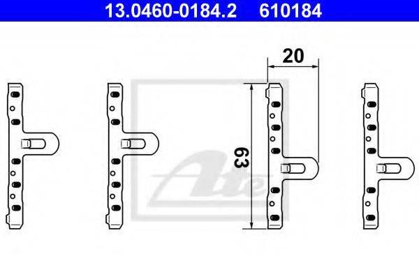 ATE 13046001842 Комплектующие, колодки дискового тормоза