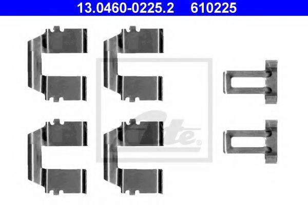 ATE 13046002252 Комплектующие, колодки дискового тормоза