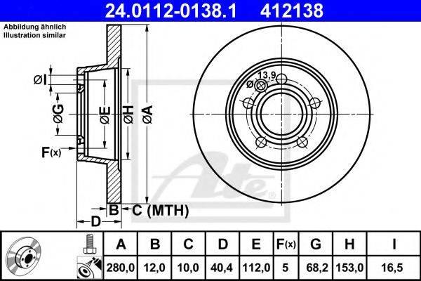 ATE 24011201381 Тормозной диск