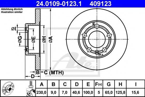 ATE 24010901231 Тормозной диск