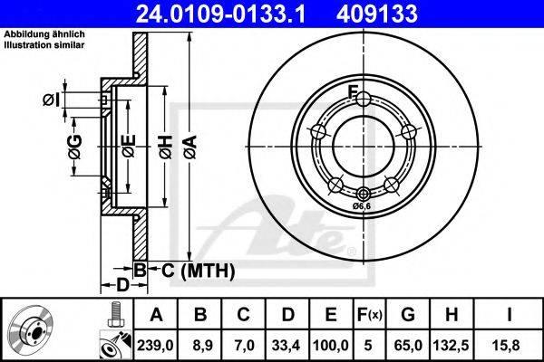 ATE 24010901331 Тормозной диск