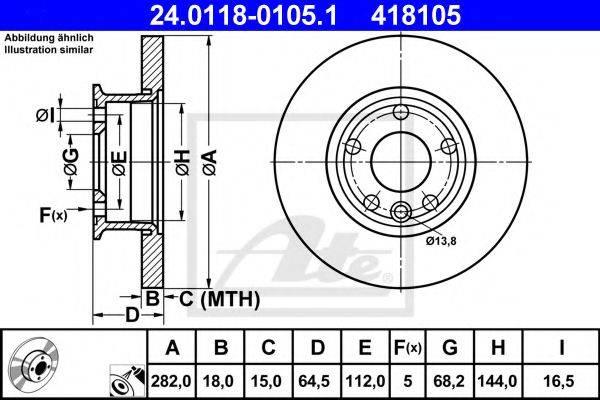 ATE 24011801051 Тормозной диск