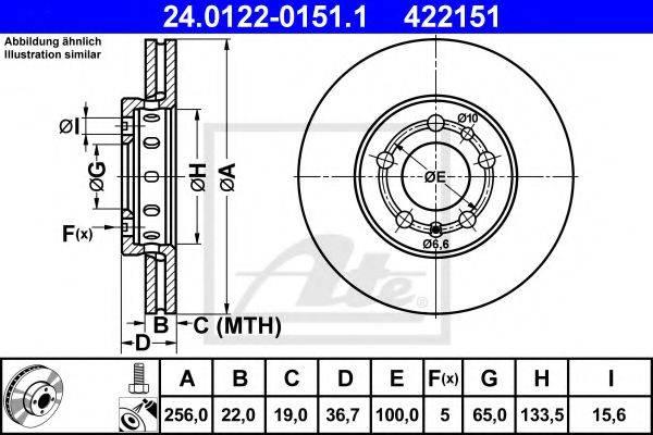 ATE 24012201511 Тормозной диск
