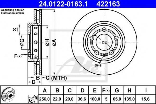 ATE 24012201631 Тормозной диск