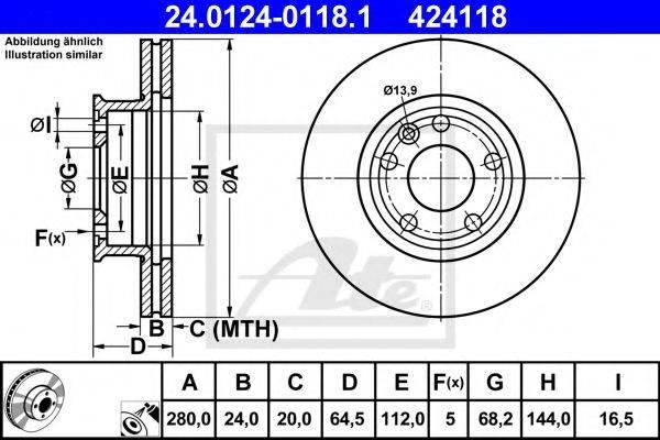 ATE 24012401181 Тормозной диск