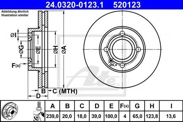 ATE 24032001231 Тормозной диск