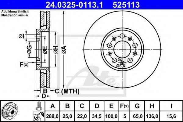 ATE 24032501131 Тормозной диск
