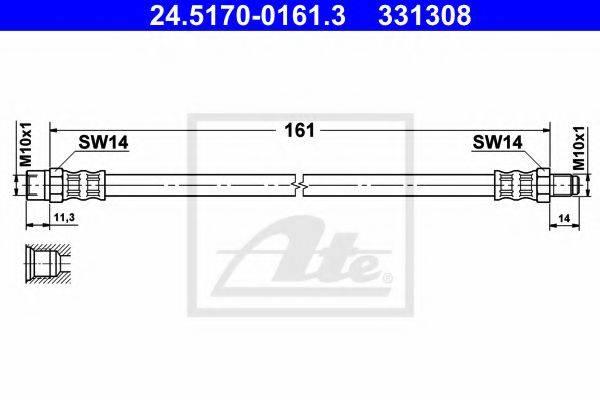 ATE 24517001613 Тормозной шланг