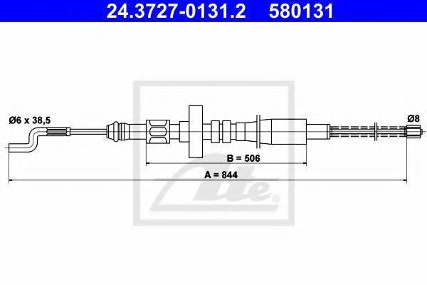ATE 24372701312 Трос, стояночная тормозная система